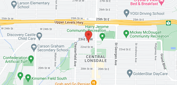 map of 123 119 W 22ND STREET