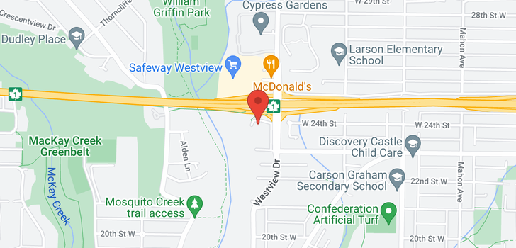 map of 615 W 24TH CLOSE