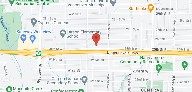map of 338 W 25TH STREET
