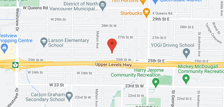 map of 230 W 25TH STREET