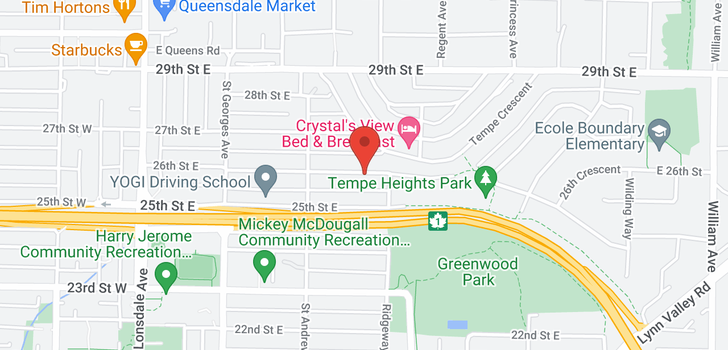 map of 351 E 26TH STREET