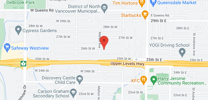 map of 258 W 25TH STREET