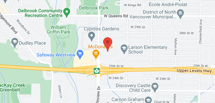 map of 1105 555 W 28TH STREET