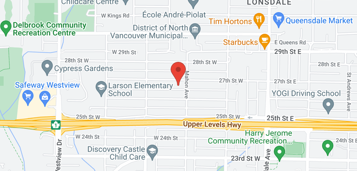 map of 317 W 27TH STREET