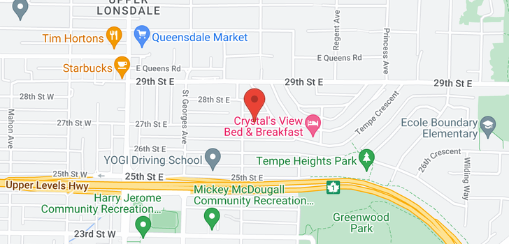 map of 312 E 27TH STREET