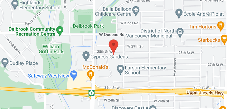 map of 527 W 28TH STREET