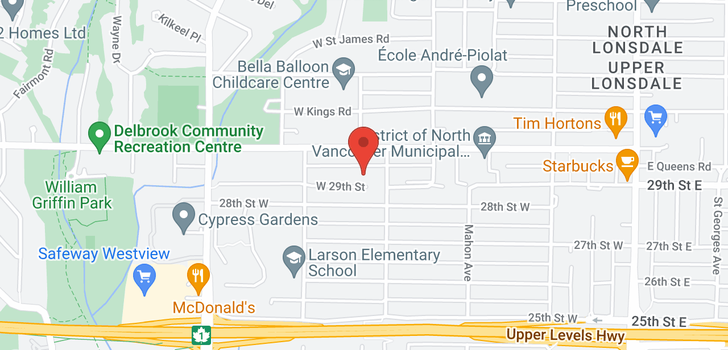 map of 496 W 29TH STREET