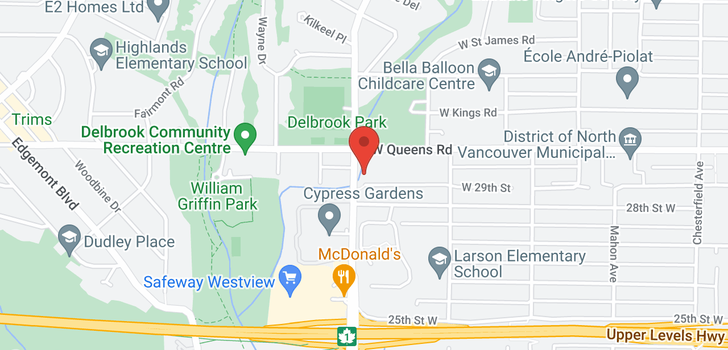 map of 696 W 29TH STREET