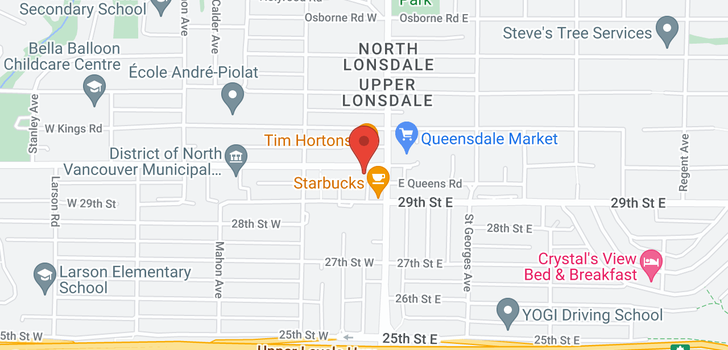 map of 2 115 W QUEENS ROAD