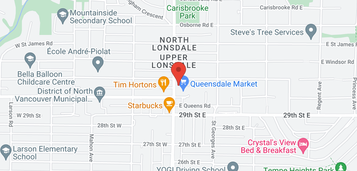 map of 315 3080 LONSDALE AVENUE
