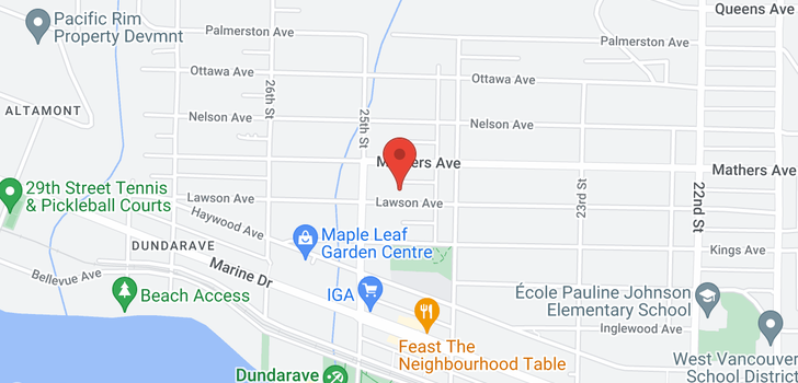 map of 2459 LAWSON AVENUE