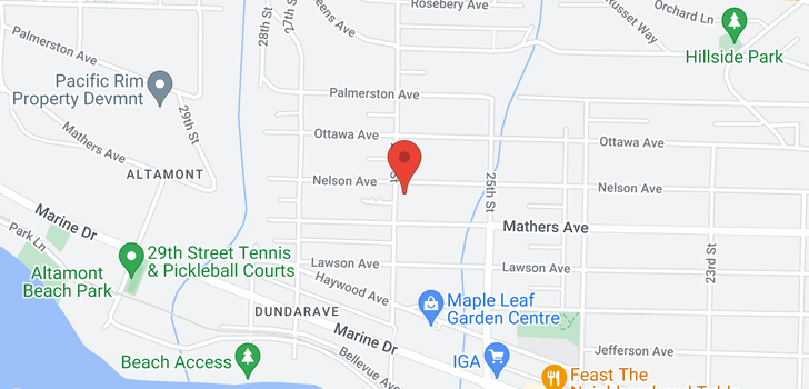 map of 2592 NELSON AVENUE