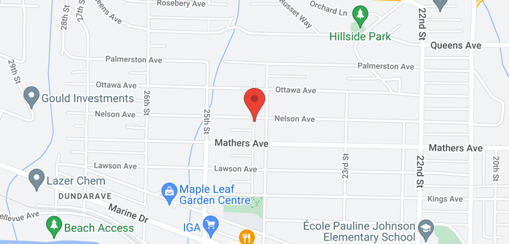map of 2418 NELSON AVENUE