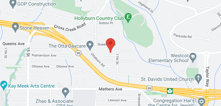 map of 1133 PALMERSTON AVENUE
