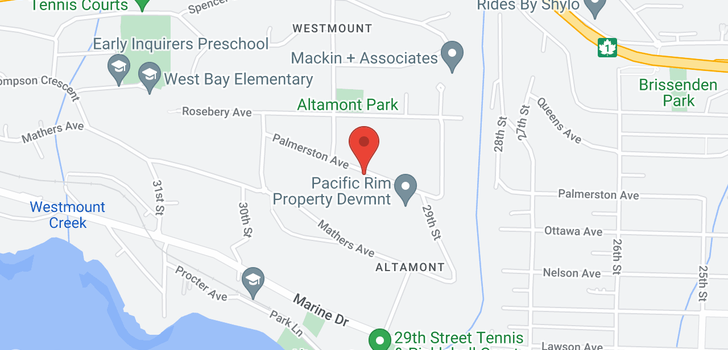 map of 2956 PALMERSTON AVENUE