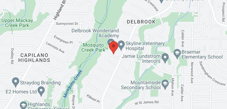 map of 211 3721 DELBROOK AVENUE