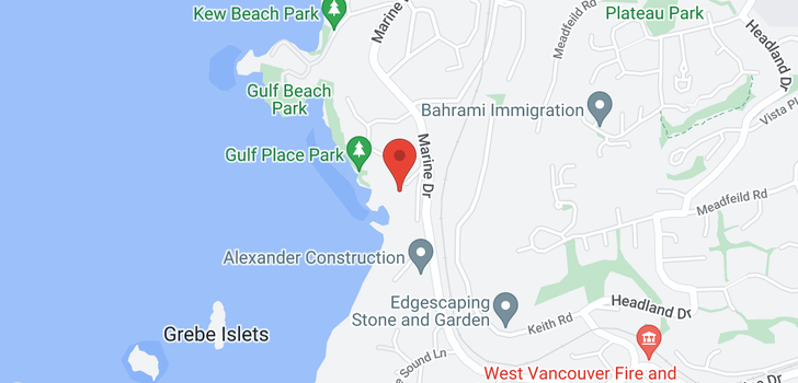 map of 5240 MARINE DRIVE