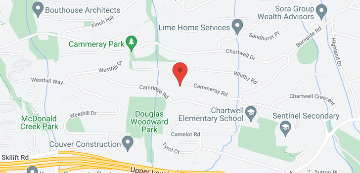 map of 1350 CAMMERAY ROAD