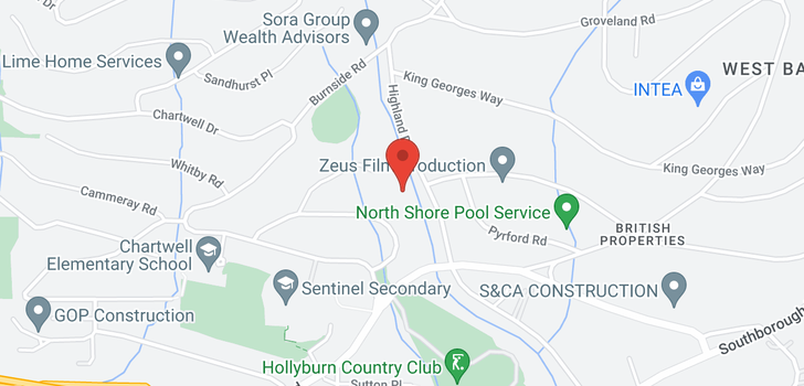 map of 1243 CHARTWELL PLACE