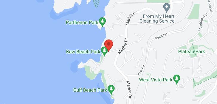map of 5381 KEW CLIFF ROAD