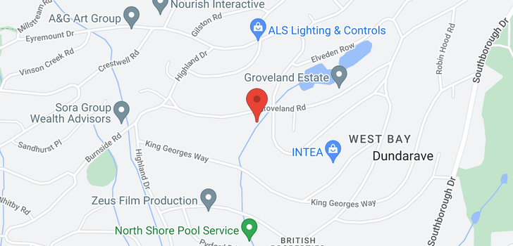 map of 1056 GROVELAND ROAD