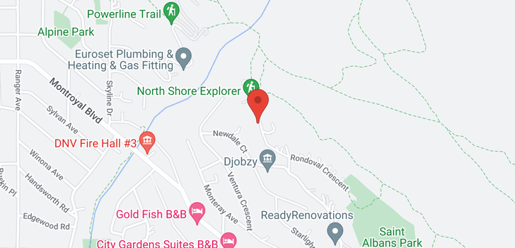 map of 4663 PROSPECT ROAD