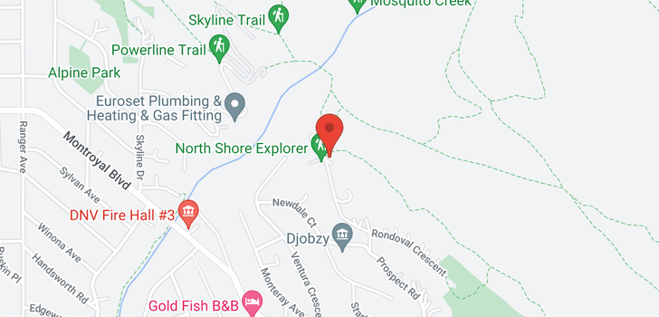 map of 4676 PROSPECT ROAD