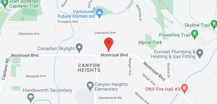 map of 888 MONTROYAL BOULEVARD