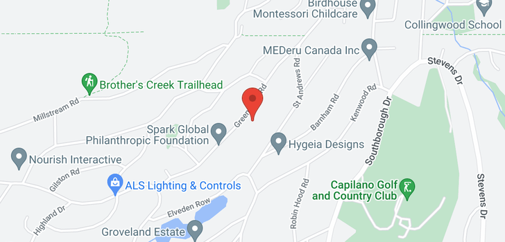 map of 710 GREENWOOD ROAD