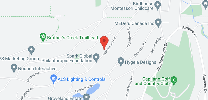 map of 725 GREENWOOD ROAD