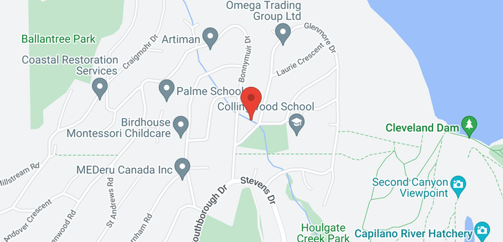 map of 107 GLENMORE DRIVE