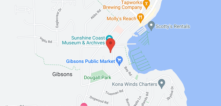 map of 101 414 GOWER POINT ROAD