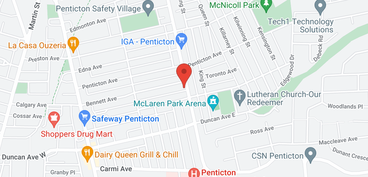map of 104 - 1273 GOVERNMENT STREET