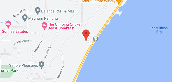 map of 6054 Hawkes Street