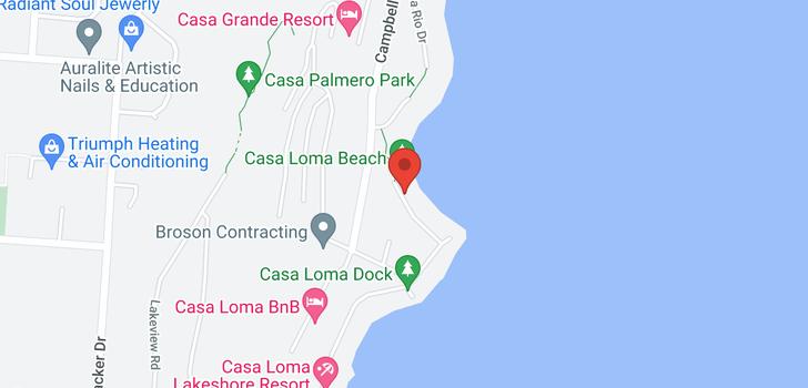 map of 2641 Casa Loma Road