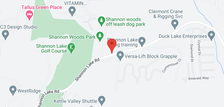 map of 2120 Shannon Lake Road