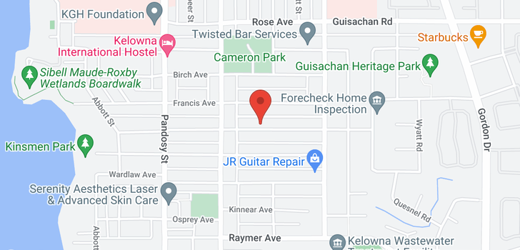 map of 837&857 Morrison Avenue