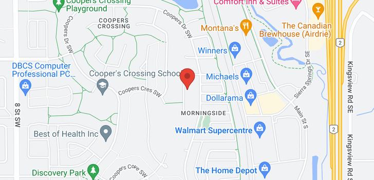 map of 355 Morningside Crescent SW