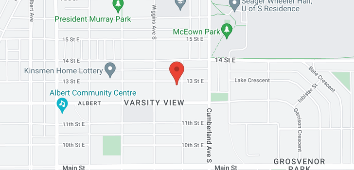 map of 1320 13th ST E
