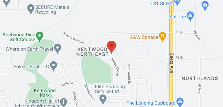 map of 119 KIRTON Close