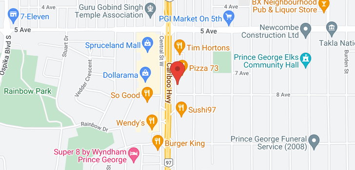 map of 780 E CENTRAL STREET