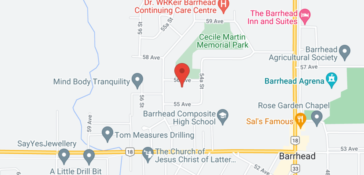 map of 5417 56 AVENUE