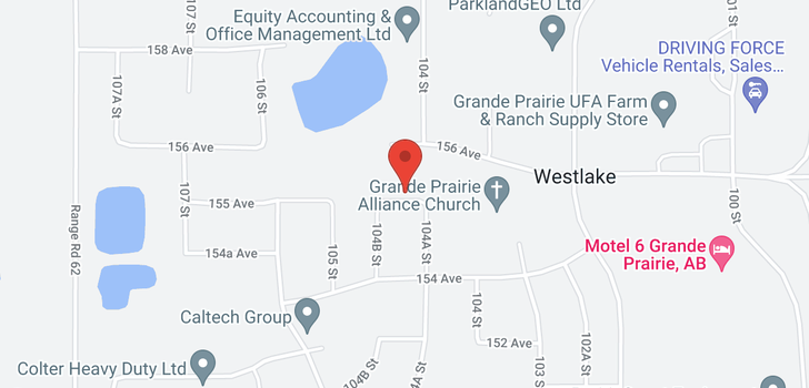map of 10412 155 Avenue