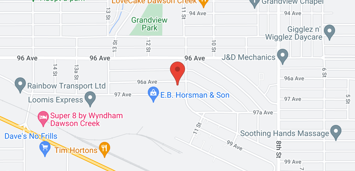 map of 1105 96A AVE